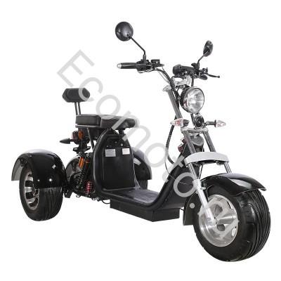 Электроскутер citycoco trike chopper трехколесный