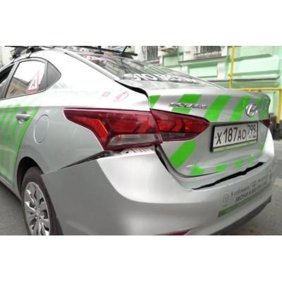 В Москве в аварию попал беспилотный автомобиль