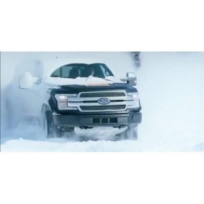 Опубликовано видео зимних испытаний электрического пикапа Ford F