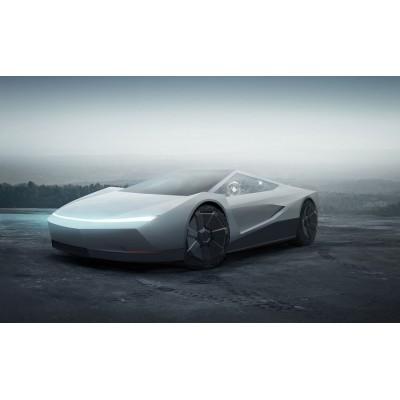 Показано купе Tesla Cybercar с дизайном в стиле пикапа Cybertruc