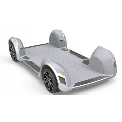 В новом электромобиле всё, от двигателя до руля, спрятано в коле