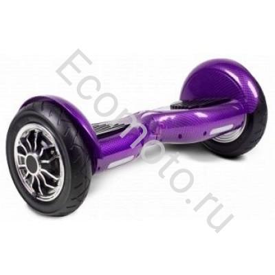 """Гироскутер Smart Balance 10"""" карбон фиолетовый с приложением"""