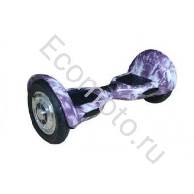 """Гироскутер Smart Balance 10"""" молния фиолетовый с приложением"""