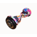"""Гироскутер Smart Balance 10"""" цветы розовый с приложением"""