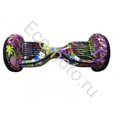 Гироскутер Smart Balance wheel suv premium 10.5 дюймов фиолетовый граффити