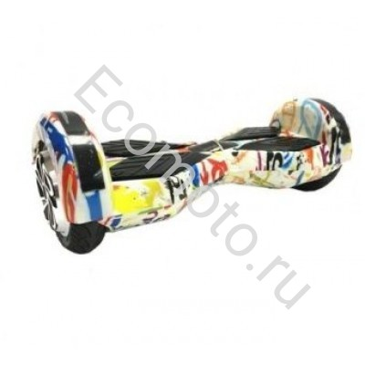 "Гироскутер Smart Balance 8"" граффити белый +LED"