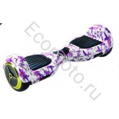 """Гироскутер Smart Balance 6,5"""" цветы фиолетовый"""
