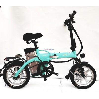 Электровелосипед XPLW GB17 14 дюймов складной Бирюзовый